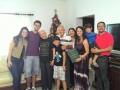 Família de Rafael com padre Jonas